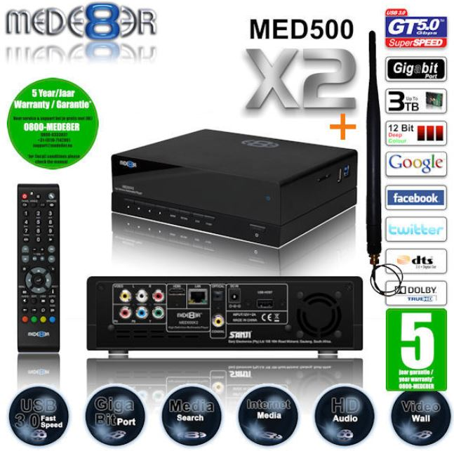 Mede8er Full HD Multimedia Player, mit Gigabit LAN, USB3.0, für 115,90€
