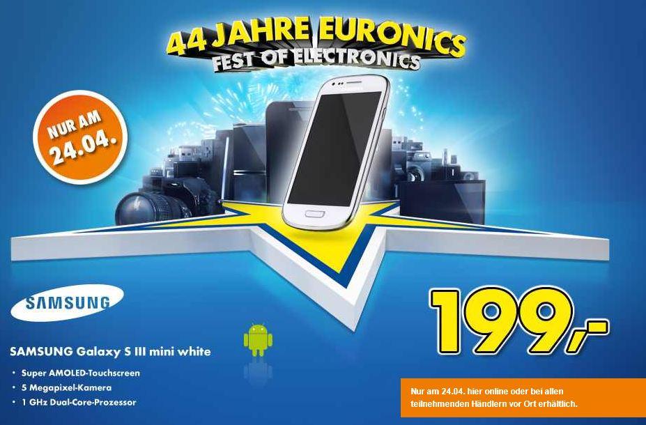 Nur heute, SAMSUNG Galaxy S III mini white, für 199€