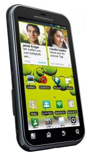 Android Smartphone, Motorola Defy Plus, Outdoorhandy mit 5MP Cam für 119€