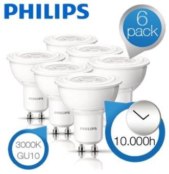 6er Pack Philips LED Strahler, für 35,90€