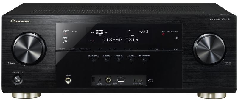 Pioneer VSX 1122K AV 7.1 Receiver (Apple AirPlay, DLNA 1.5 / Win 7 Streaming Client, HDMI, Control App.) für 399€