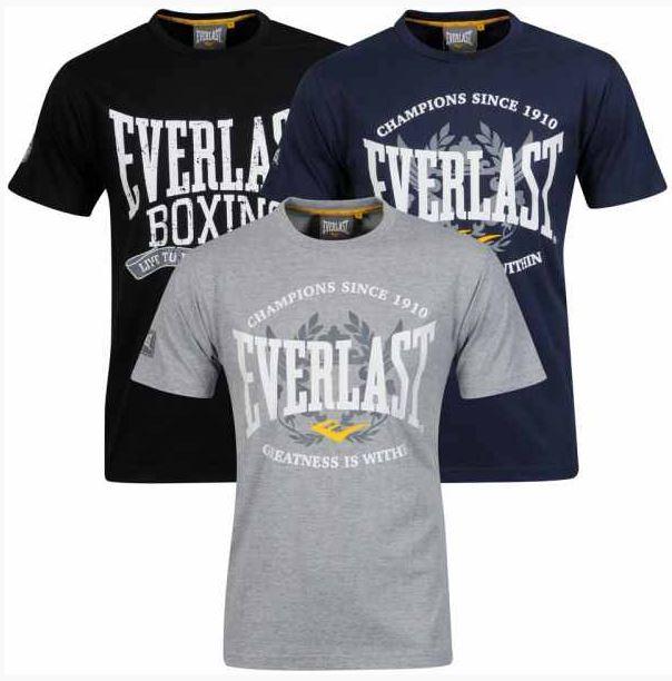 3er Pack T Shirts von EVERLAST für 16,25€ & T Shirt von BENCH für 12,49€