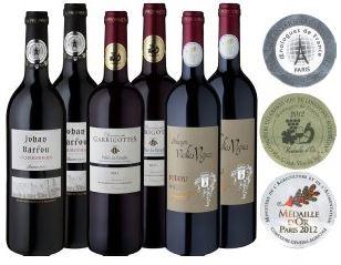 Meevio 6er Rotwein   Medaillen Abräumer Südfrankreich, 6er Pack (6 x 0.75 l) für 35,90€