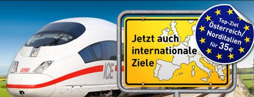Mit der Bahn für 35€ nach Norditalien und Österreich