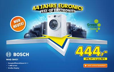 Bosch WAQ28421   7Kg Waschmaschine mit EEK A+++ ab 444€ bei Euronics