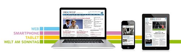 Die Welt Digital Plus + Welt am Sonntag als Print für 0,99€ im Monat
