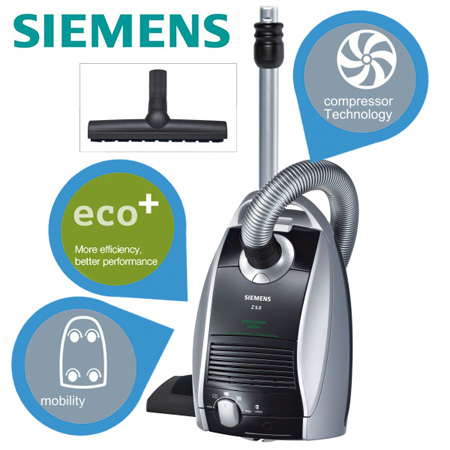 Update! Siemens Z5.0 für 108,90€   Bodenstaubsauger Green Power Edition