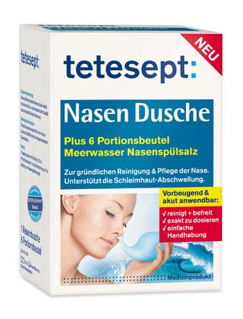 Für Allergiker: Nasendusche von tetesept für 1€ + VSK