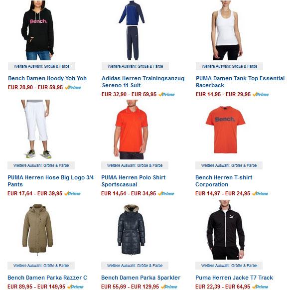 Aktuelle Sportswear mit bis zu 60% Rabatt + kostenlose Lieferung bei Amazon