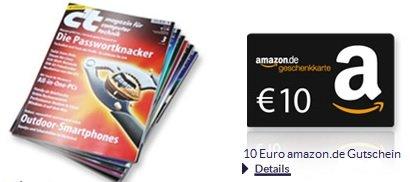 Update! 3 Monats Abo der c't für 16,50€  + 10€ Gutschein