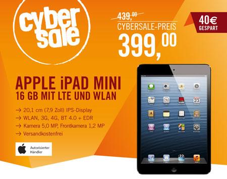 iPad mini mit 16GB und 4G für 399€