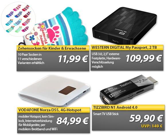OHA Wochenend Deals! Vodafone 4G Hotspot, 2TB 2,5″ Festplatte, Smart TV Stick