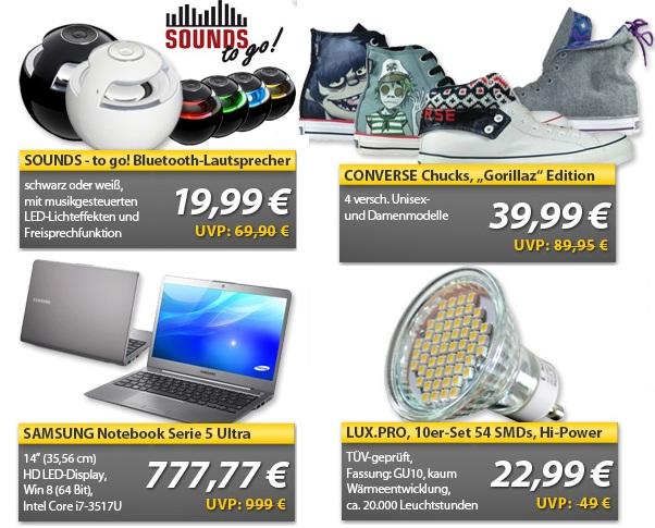 OHA Wochenend Deals   SOUNDS – to go!, Ultrabook für 777,77€ ...und weitere