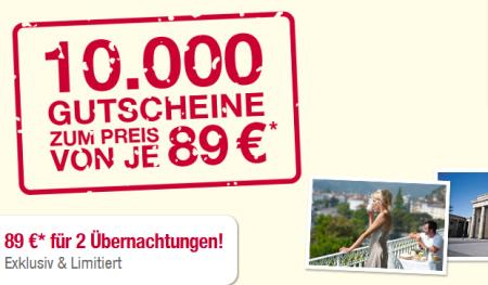 42 RAMADA Hotels in ganz Deutschland, 2 Übernachtungen für 2 Personen nur 89€