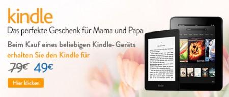 Update! Beim Kauf eines Kindles gibt es einen weiteren Kindle für 49€ statt 79€!