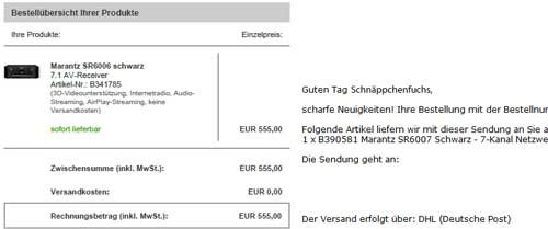 Update! Marantz SR6007 für 555€ bei Redcoon   Vollausgestatteter AV Receiver