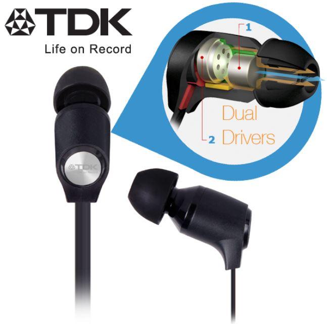 *Hammer* TDK Life on Record IE800, in Ears Dual Kopfhörer mit Flachkabel für 35,90€