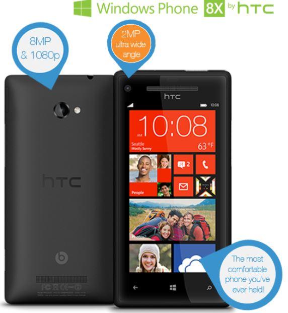 HTC Windows Phone 8X, Smartphone mit Beats Audio für 285,90€