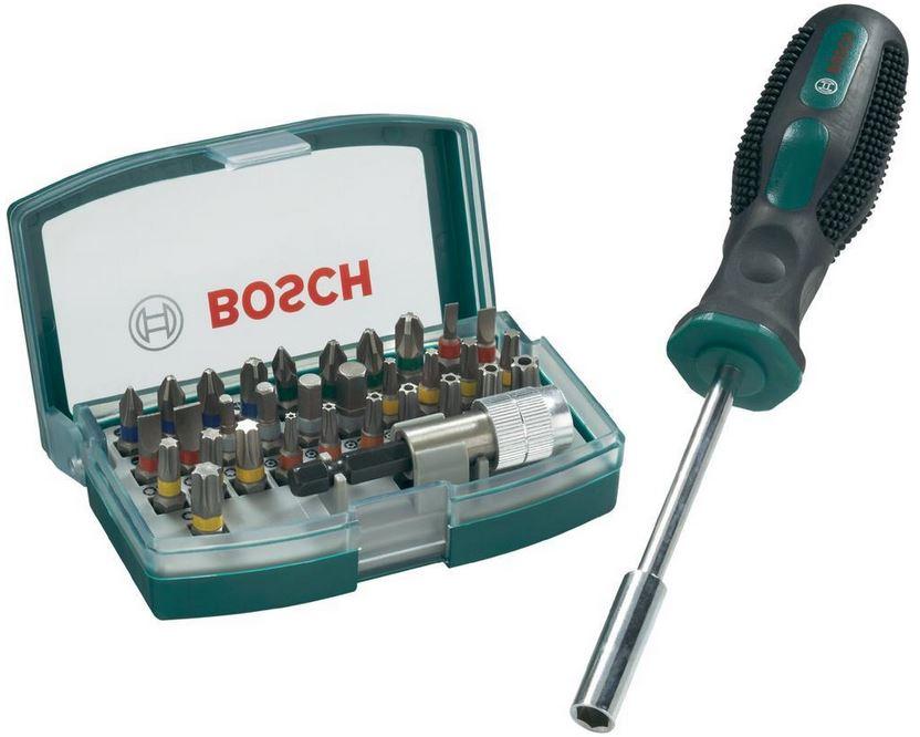 Bosch 32 tlg. Schrauberbit Set + Handschraubendreher für 9,99€   Update
