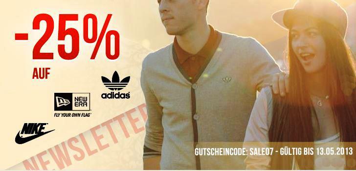 *Tipp* 25% Rabatt auf alle Artikel der Marken Adidas, Nike und New Era bei den Hoodboyz