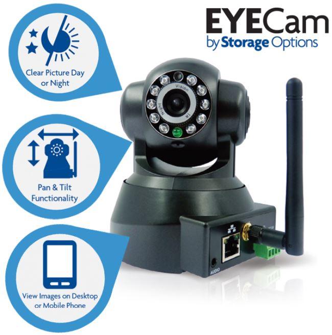 Eyecam, Indoor Wireless IP Kamera für 55,90€   Wieder da!