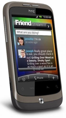 HTC WILDFIRE, Android Einsteiger Smartphone mit (WLan, GPS, 5MP, UMTS) für 69,90€