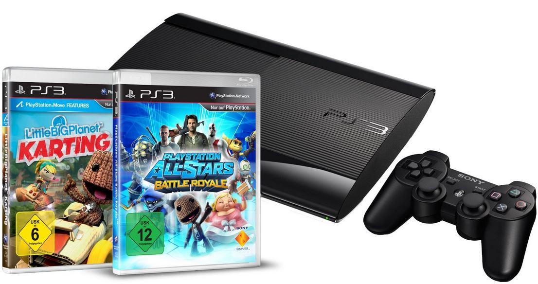 PlayStation 3 Konsolen Bundle mit 500GB + LBP Karting + Battle Royale für 249€   wieder da!