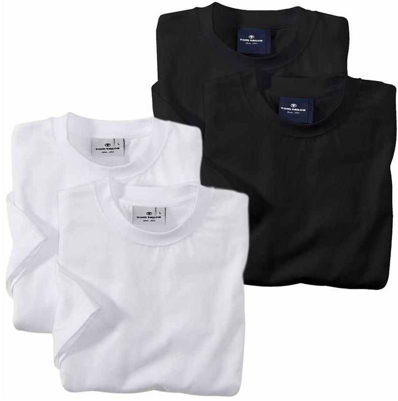 TOM TAILOR 2er Pack T Shirt, weiß oder schwarz für je Set 12,99€   wieder da