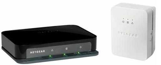 NetGear 200 Mbit/s Powerline Adapter + 4 Port Netzwerk Switch Kit XAVB1004 zusammen für 33,99€