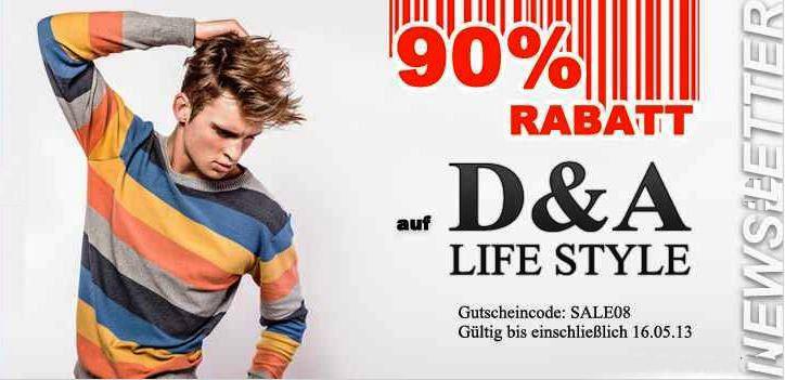 90% Rabatt auf Damen Fashion von Dada Ladies und Herren D&A Lifestyle