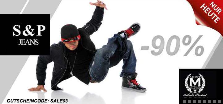 90% Rabatt auf Marken von D&A Lifestyle, H.I.S, Pelle Pelle, S&P und Most Official Seven