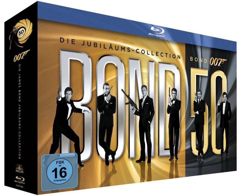 James Bond   50 Jahre: Die Jubiläums Collection (ohne Skyfall) für 81€   Update!
