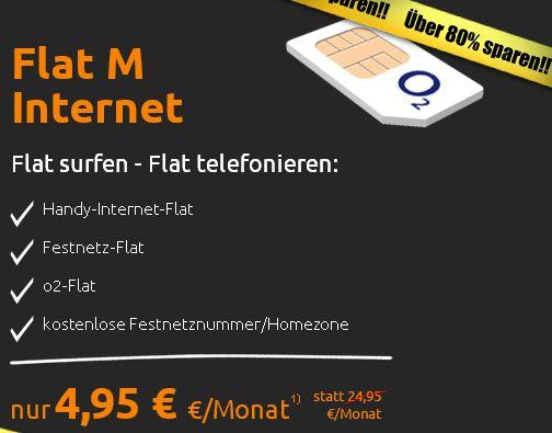 *TIPP* O² 3fach Handyflat für nur 4,95€ monatlich!