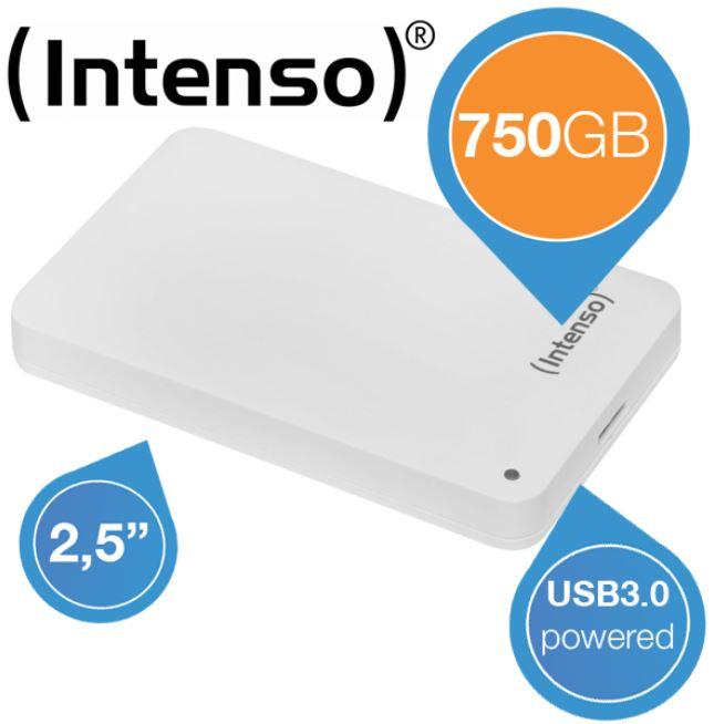 Intenso MemoryCase, externe 2.5 Festplatte mit 750GB für 55,90€
