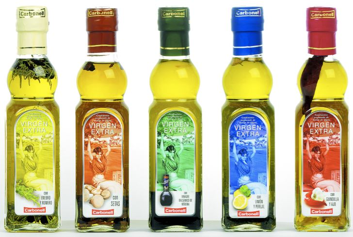 Carbonell Extra Virgen Olivenöl, in 5 verschiedenen aromatisierten Sorten für zusammen 11,11€