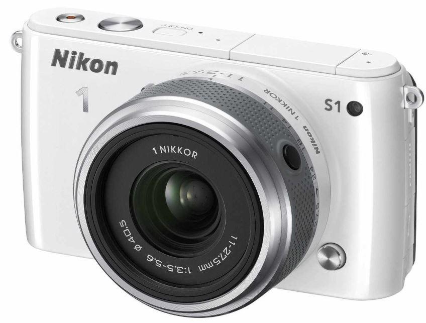 Nikon 1 S1 Systemkamera mit 10MP und Nikkor 11 27,5 mm Objektiv