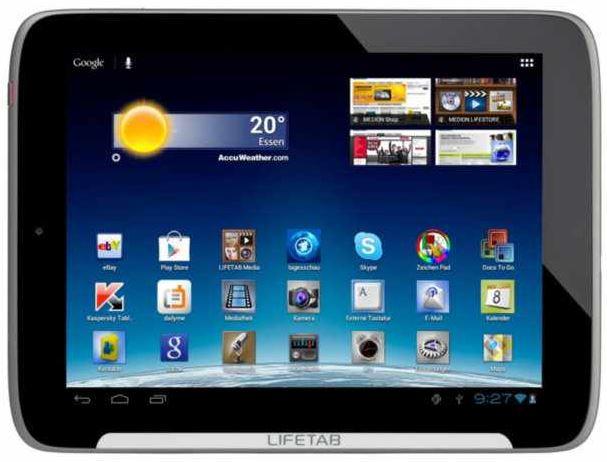 MEDION LIFETAB S9512, Tablet PC mit 16GB und IPS Display für 159€