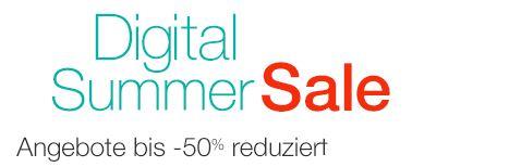 Digital Summer Sale: Angebote bis  50% reduziert auf ausgewählte MP3, Software und Games