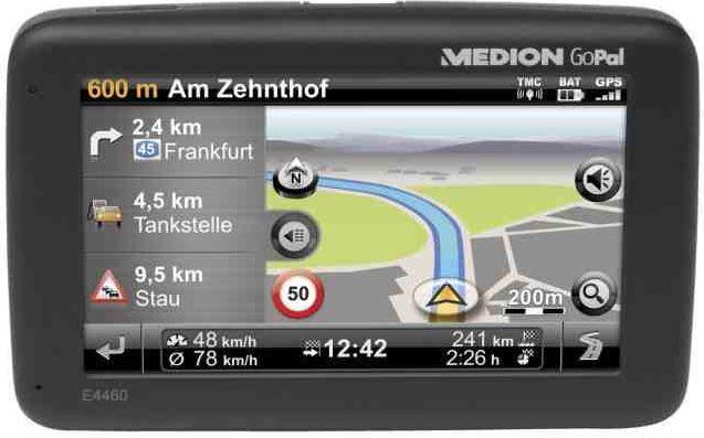MEDION GoPal E4460 EU+ Navi mit TMC und Bluetooth für 55€    Wieder da!