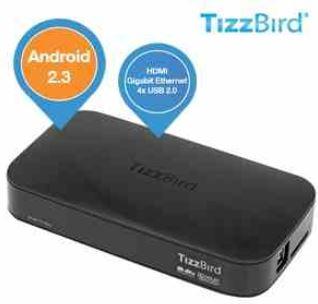 TizzBird F10 Multi Mediaplayer mit Android 2.3 für nur 65,90€