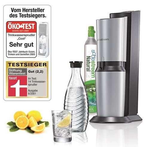 SodaStream mit Glaskaraffe und Co2 Zylinder für 79€