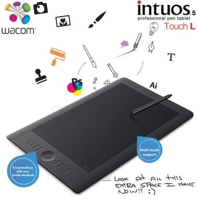 Update! Wacom Intuos 5 Touch L für 299€   professionelles A3 Grafiktablet
