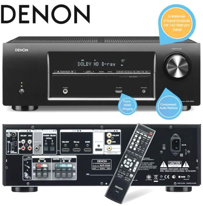 Denon AVR X500 5.1 Surround Receiver für 248,90€