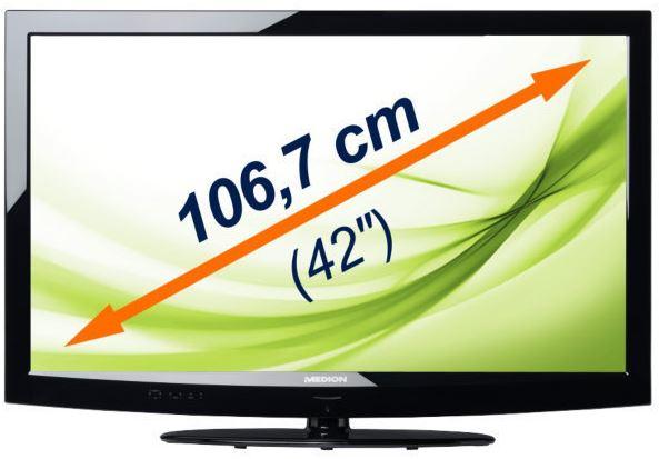 MEDION MD 30566 X16998, 42Smart TV mit triple Tuner für 399€