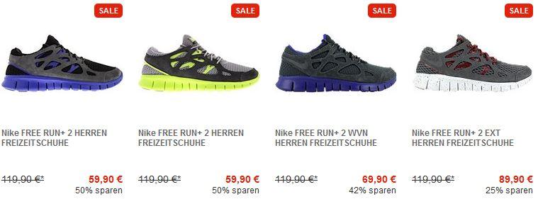 Nike Free Run+ 2, Sportschuhe ab 59,90€