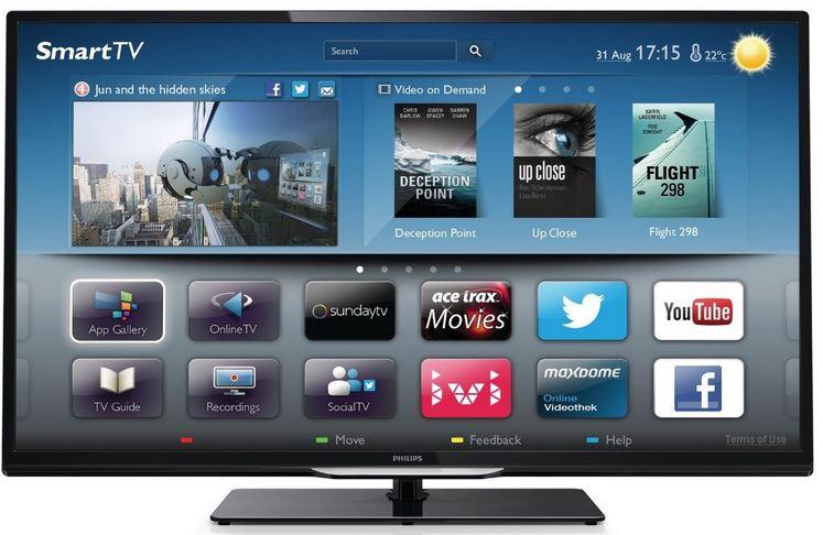 32 Smart WiFi TV, Philips 32PFL4258K/12, mit triple Tuner für 399€