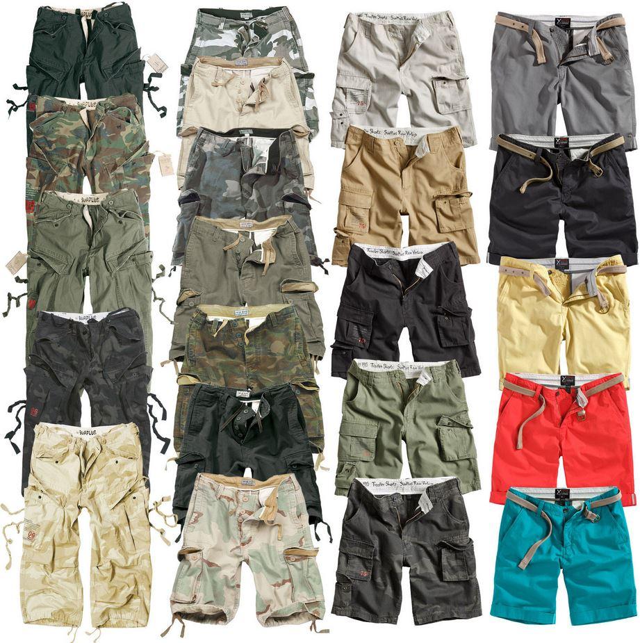 SURPLUS   34 verschiedene Herren Shorts für je 24,99€