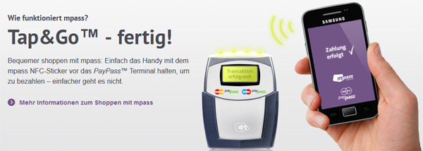 Bis zu 10€ Guthaben für mpass Zahlungen   z. B. Guthaben für McDonalds   Update!