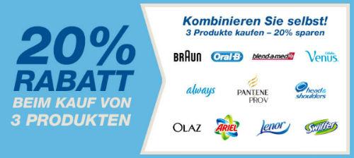 20% Rabatt beim Kauf von 3 P&G Produkten   Update