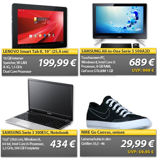 All In One PC, Ultrabook, Tablet mit 3G   OHA Wochenend Deals
